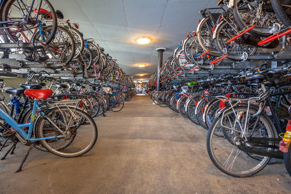 Dubbellaags fietsparkeren